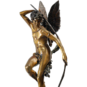 A 19th Century Bronze Sculpture of Cupid by Jules-Félix Coutan