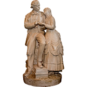 """19th Century John Rogers Sculpture Entitled """"Parting Promise"""""""