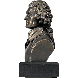 Polystone Bust of Thomas Jefferson
