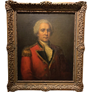 18th Century Portrait of a British Officer in the Manner of Thomas Gainsborough
