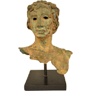 Copper Bust Of Dionysus