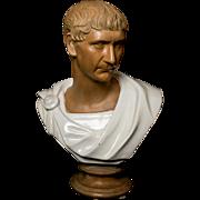 Striking Large Italian Bust of Caesar