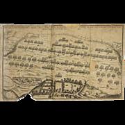 Original English Civil War Map of the Battle of Naseby