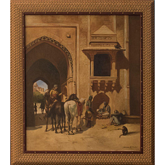 19th Century Original Orientalism Oil Painting by Almal Al Sada