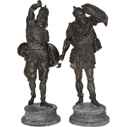 Pair of Late 19th Century Spelter Warrior Figures