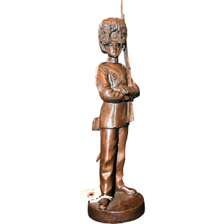 Stunning Bronze Sculpture of a Standing Solider