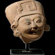Pre-Columbian Veracruz Pottery Sonriente Head
