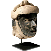 Pre-Columbian Veracruz Pottery Head of Warrior