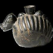 Lovely Chimu Blackware Jar in Armadillo Form