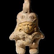 Rare Pre-Columbian Chorrera Pottery Whistling Jar