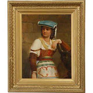 Remarkable 19th Century Original Oil Painting by Renowned Nicholas Edward Gabe