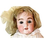 Iconic Kestner 154 German Bisque Shoulder Head Kid Body Doll with Original Wig and Plaster Pate
