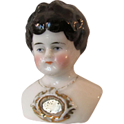 Small Antique Fancy Shoulder Plate China Doll Head 1880-1900s