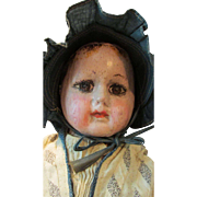 Large Early Alabama Baby Ella Smith Indestructable Cloth Doll 1901