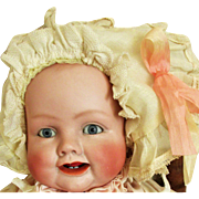 Antique Georgene Averill Bonnie Babe Bisque Head Baby Doll
