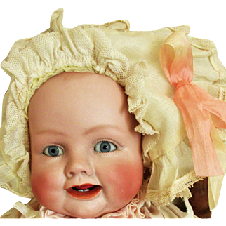 Antique Georgene Averill Bonnie Babe Bisque Head Baby Doll
