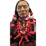 "35"" Tall Skookum Store Display Doll * Museum Quality * Native American Indian Inspired * 48"" in Headdress"