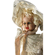 """Poured Wax Fritz Bartenstein Double - Face Rare Antique Character 15"""" Doll"""