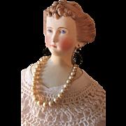 Antique Countess Dagmar Parian Head Doll TLC
