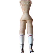 Vintage Cloth Body with Parian Legs with Fancy Molded Boots for Shoulderhead Bisque or Parian Lady Doll PENDING SALE for GM