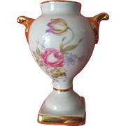 Vintage Miniature French Limoges Fragonard and Floral Porcelain China Urn perfect for Antique French Fashion Doll