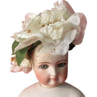 Silk and Velvet Romantic Roses French Fashion Doll Hat * Chapeau