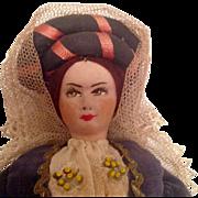 1930s Cloth Travel Doll from Sardinia