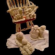 Vintage Dept 56 Snowbabies Action Figure Groups
