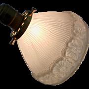 Vintage Flower Design Glass Lampshade