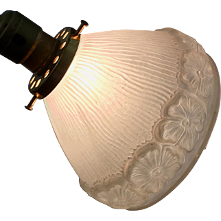 Vintage Flower Design Glass Lampshade