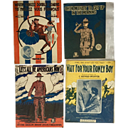 World War I Sheet Music - Four Pieces