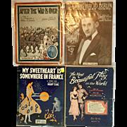 World War I Sheet Music - Four Pieces