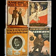 Word War I Sheet Music - Four Pieces
