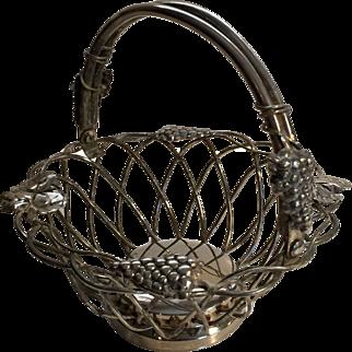 Vintage Fancy Silver Basket