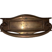 Vintage Cast Bronze Mail Slot For Door