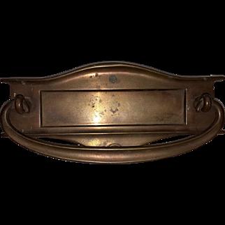 Vintage Cast Bronze Mail Slot For Door