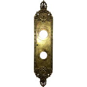 Vintage Solid Cast Brass Door back Plate