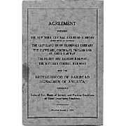 Railroad Book: Agreement Between Several Railroads for Hours, Pay, etc.