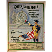 Kaiser Jubilee March - E. T. Paull Sheet Music 1913