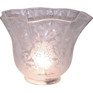 Etched Glass Fixture Shade