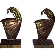 Art Deco Dancing Lady Bookends