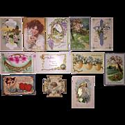 Vintage Easter Post Cards - 12