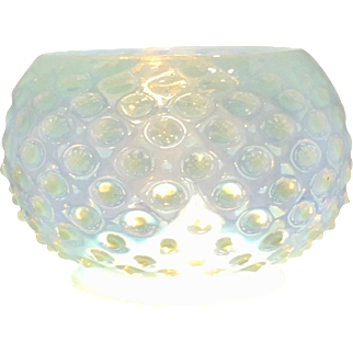 Blue Opalescent Hobnail Gas Shade