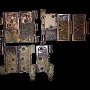 Three Sets Of Antique Eastlake Door Hinges
