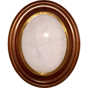 19th Century Walnut Oval Picture Frame