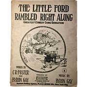 The Little Red Ford Rambled Right Along - Sheet Music - 1914 - Great Model T Images