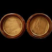 Matching Victorian Round Walnut Frames