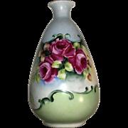 Vintage Porcelain Flowered  Vase