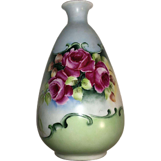 Vintage Porcelain Flowered  Vase