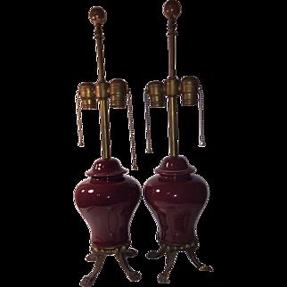 Vintage Matching Tea Jar Table Lamps